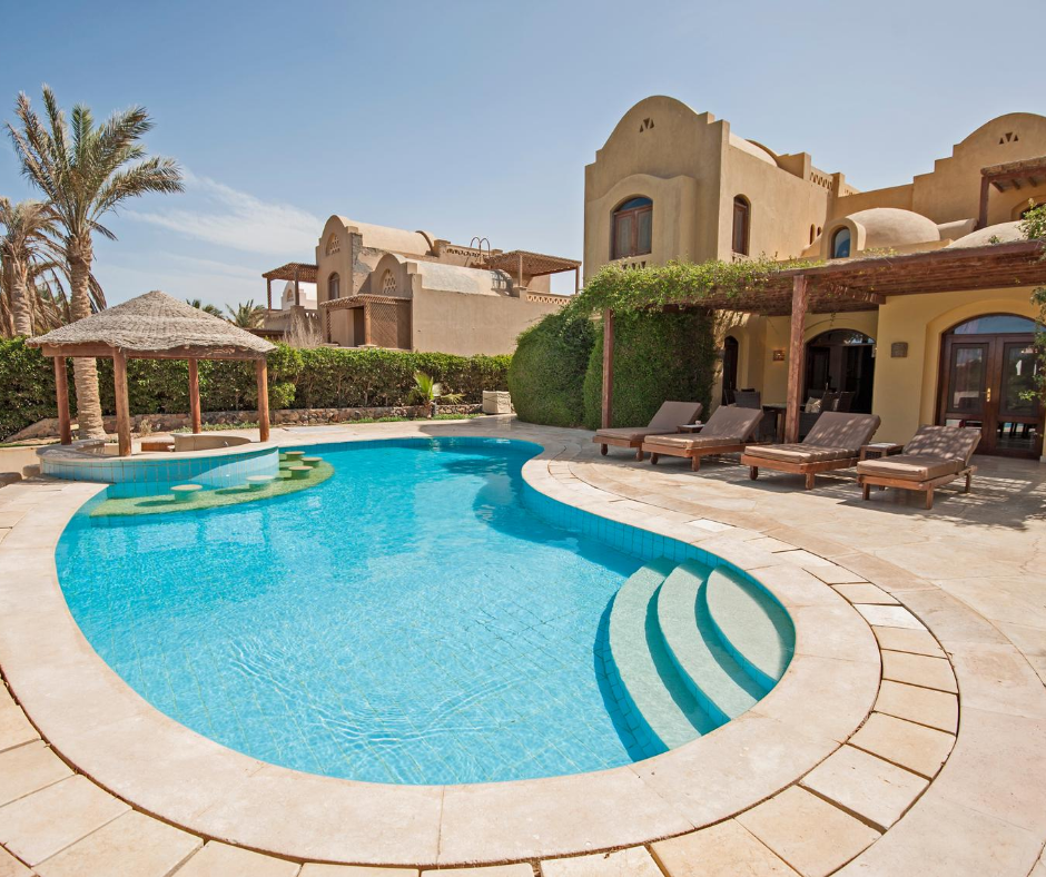 tax breaks on holiday homes - a holiday home by a pool