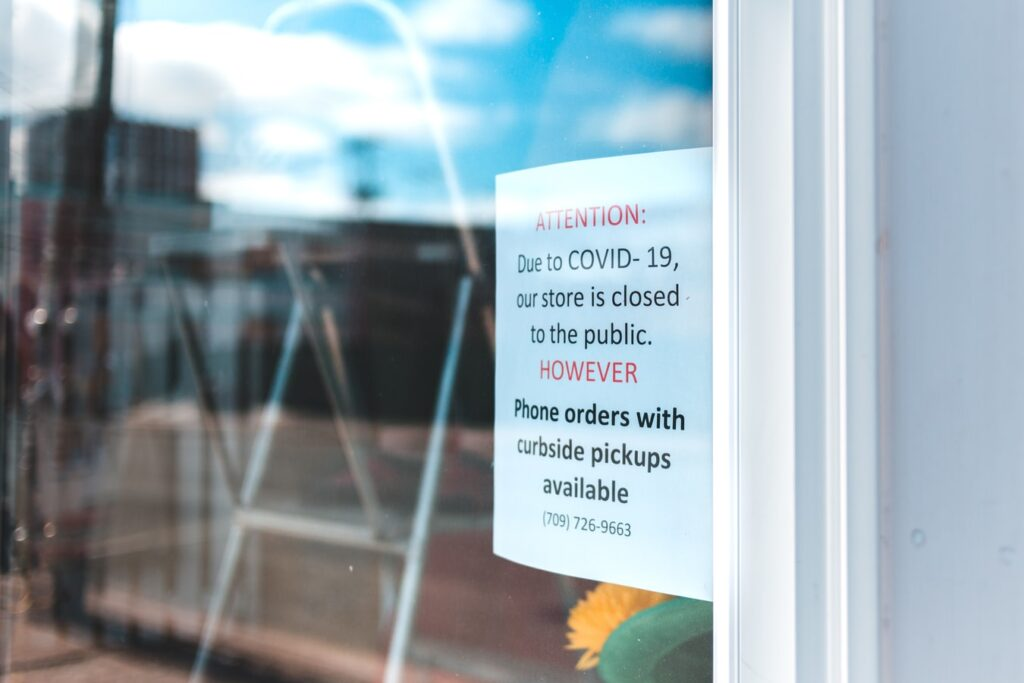 Business interruption claims - a store closed due to the coronavirus pandemic