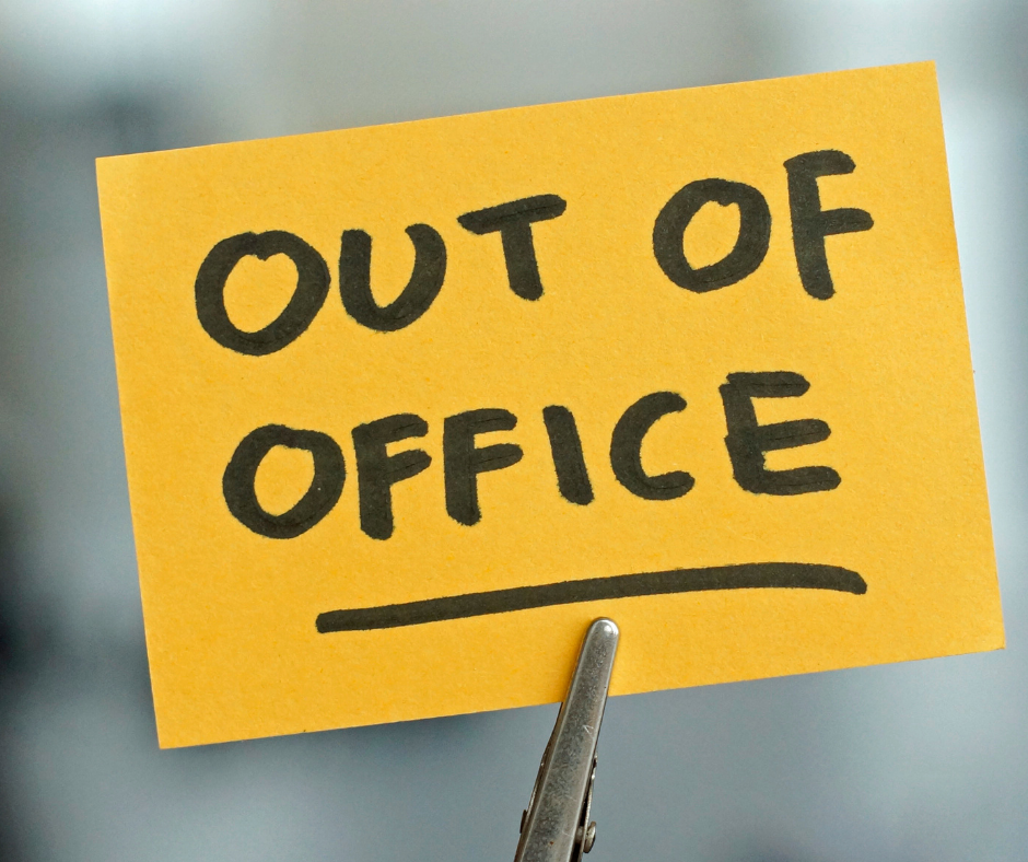 bank holidays furlough - out of office image